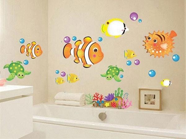 Tìm hiểu về decal hoa văn trangtrí phòng tắm