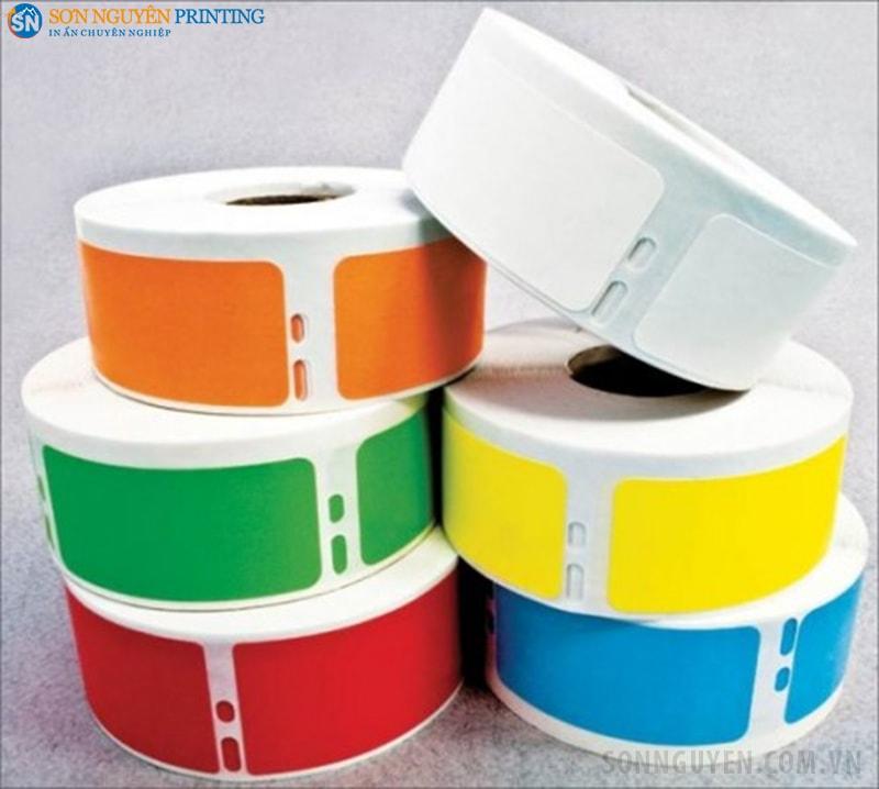 Decal cảm nhiệt gián tiếp có thể in nhiều màu sắc khác nhau
