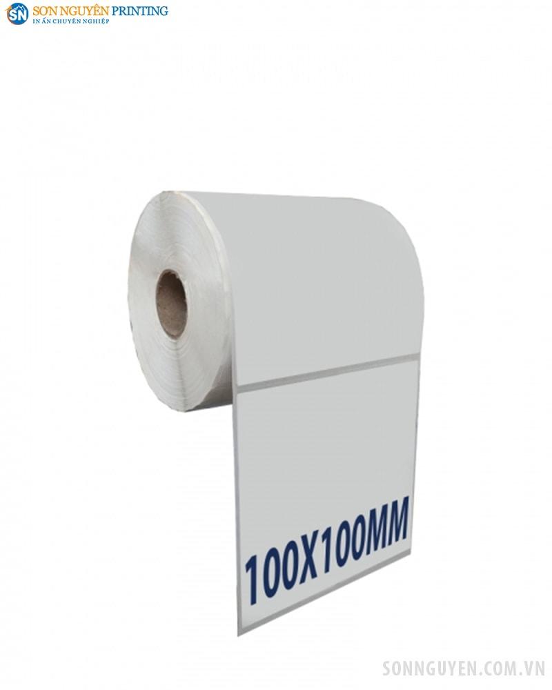 Giấy in tem mã vạch 100x100