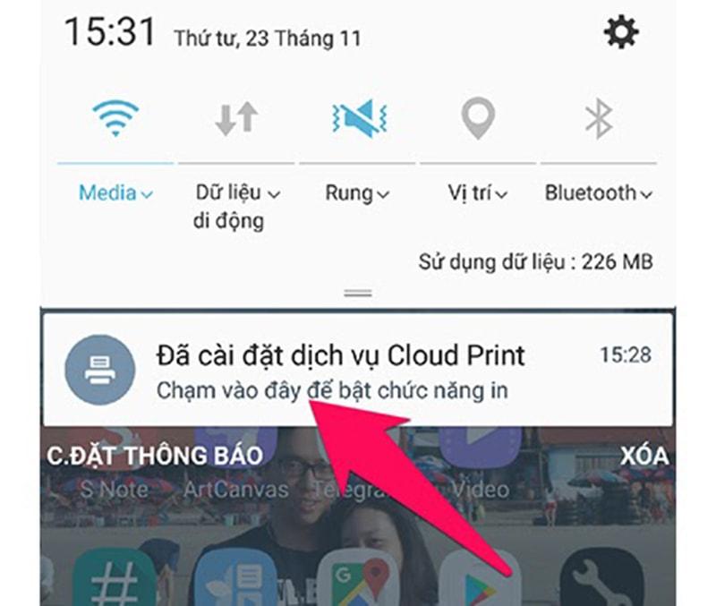 Hướng dẫn in tài liệu qua thiết bị Android 1