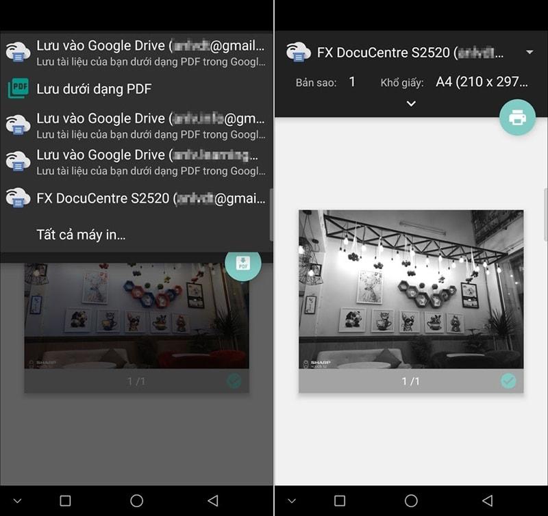 Hướng dẫn in tài liệu qua thiết bị Android 4