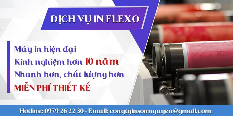Dịch vụ in flexo chuyên nghiệp Sơn Nguyên