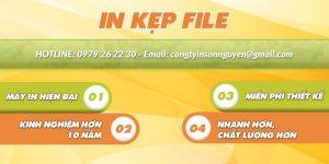 Dịch vụ in kẹp file giá rẻ