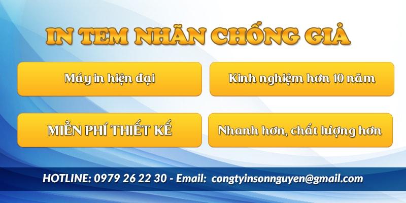 Dịch vụ in tem chống hàng giả hàng nhái