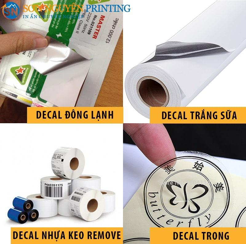 Những loại tem nhãn decal nhựa phổ biến trong cuộc sống