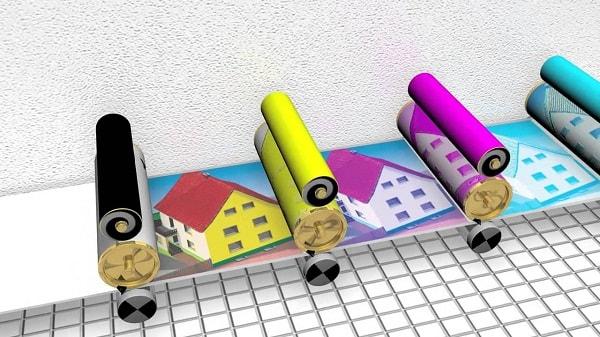 Mô phỏng kĩ thuật in offset 4 màu
