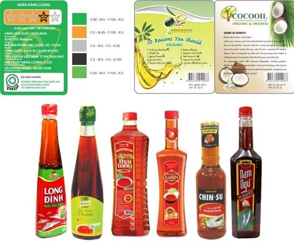 Tem nhãn hàng hóa được dán trên sản phẩm