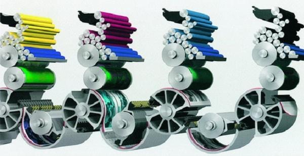 Mô hình cấu tạo máy in  flexo