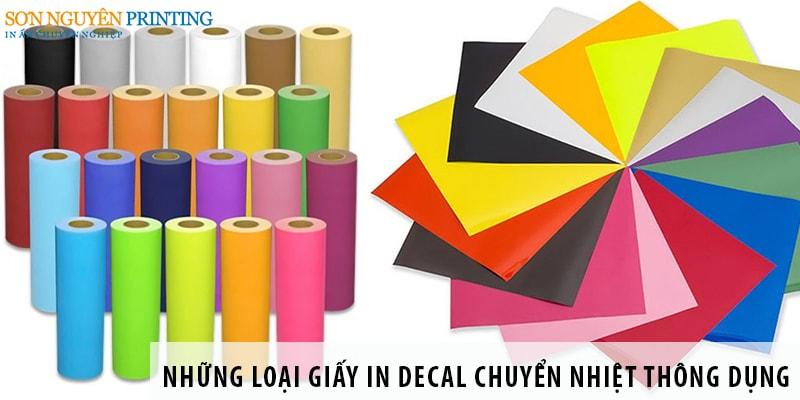 Những loại giấy in decal chuyển nhiệt thông dụng