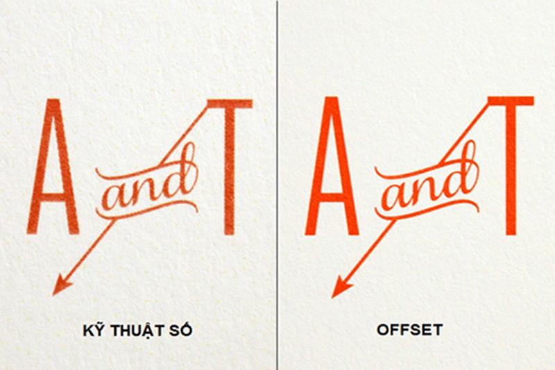 So sánh bản in kỹ thuật số và bản in Offset