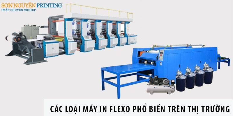 Các loại máy in Flexo phổ biến trên thị trường