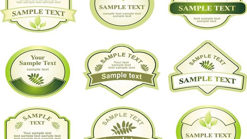 Thiết kế tem nhãn bao gồm hình dáng, kích thước, hình ảnh, nội dung,...