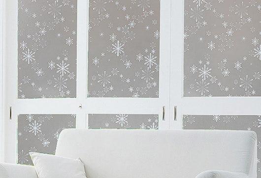 Decal dán kính cửa sổ phòng ngủ hình bông tuyết