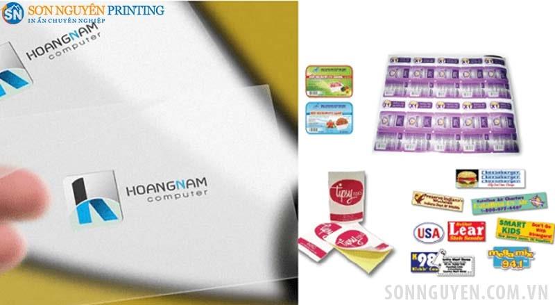 Decal giấy và decal nhựa đều cung cấp thông tin sản phẩm cho người tiêu dùng