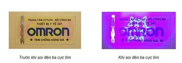Có thể xác định tem chống hàng giả là thật hay giả bằng tia cực tím