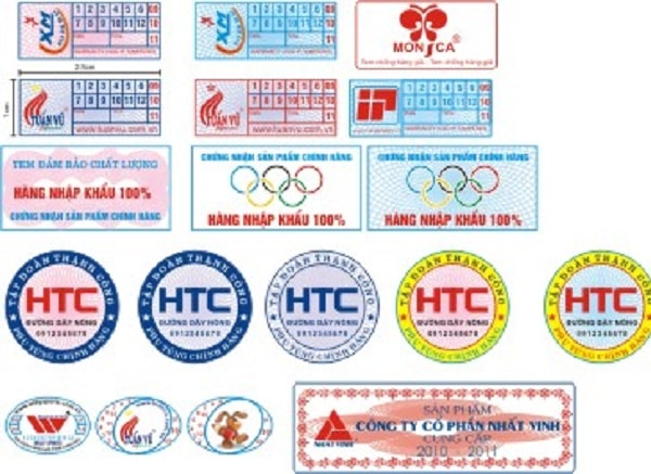 Decal vỡ là chất liệu phổ biến để in tem bảo hành
