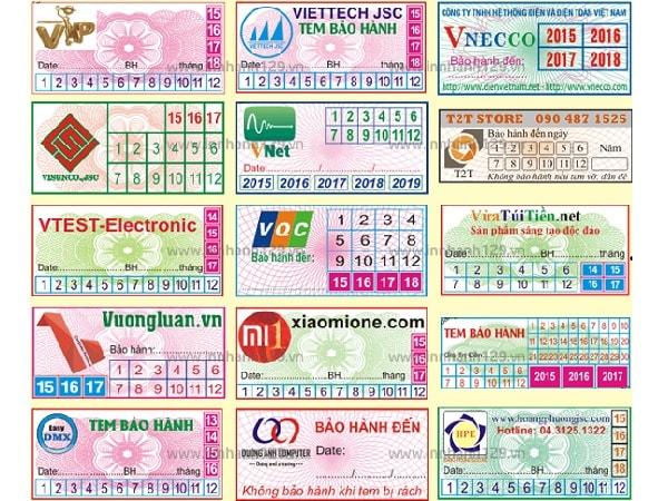 Người ta thường sử dụng chất liệu gì để in tem bảo hành
