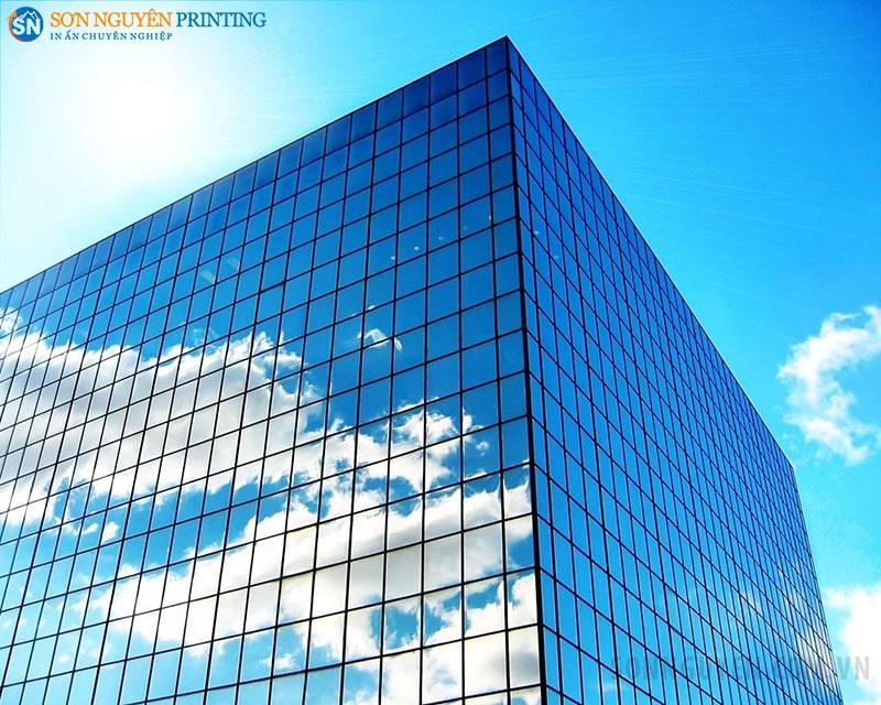 Decal dán kính sử dụng cho kính các tòa nhà cao tầng