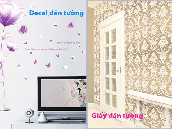 Phân biệt decal dán tường và giấy dán tường