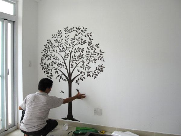 Decal được các gia đình rất ưa chuộng trong việc trang trí cho căn nhà của mình