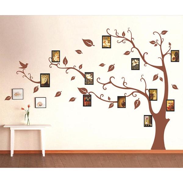 Decal dán tường màu nâu hợp mệnh Thổ