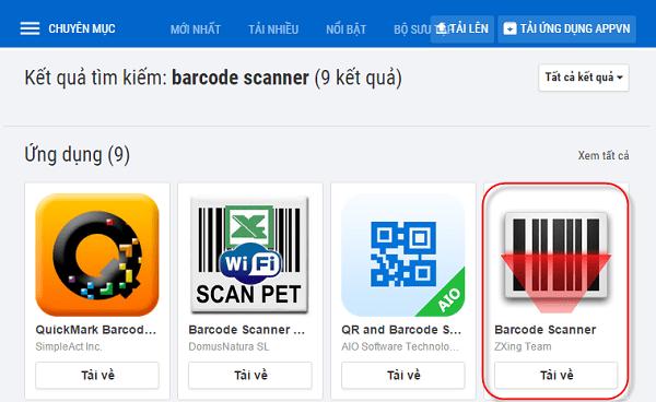 Cài đặt phần mềm QR code Barcode