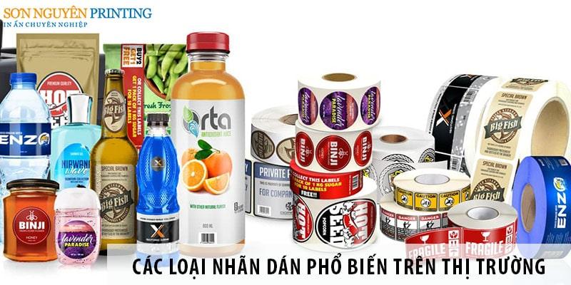 Các loại nhãn dán phổ biến trên thị trường