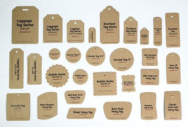 Hình dáng mác thẻ bài vô cùng đa dạng