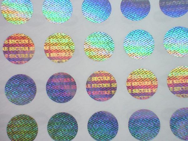Màu sắc của tem Hologram