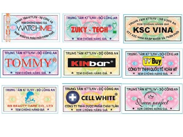 Các mẫu thiết kế tem chống hàng giả