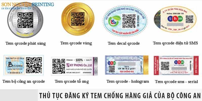 Thủ tục đăng ký tem chống hàng giả của Bộ Công An