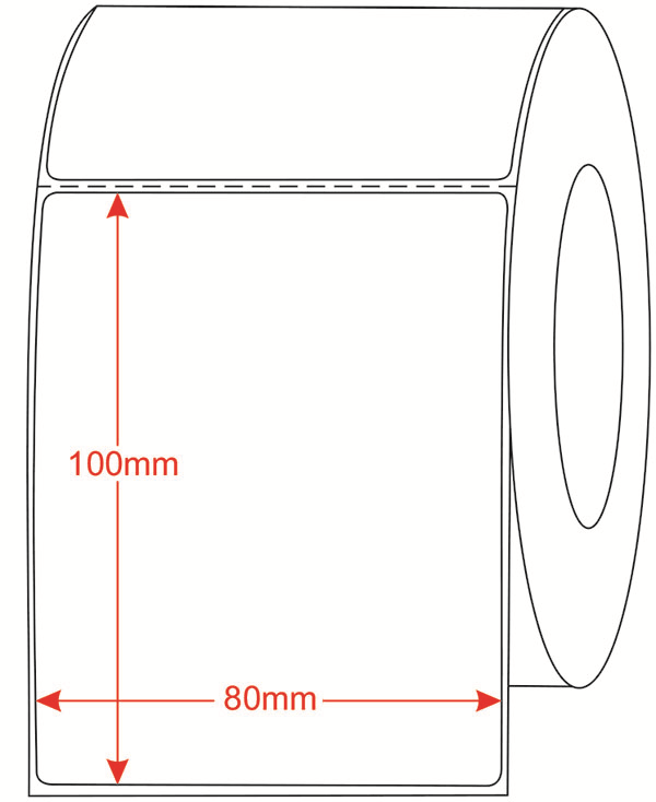 Thông số kỹ thuật của tem decal giấy mã vạch 100x50mm dài 100m