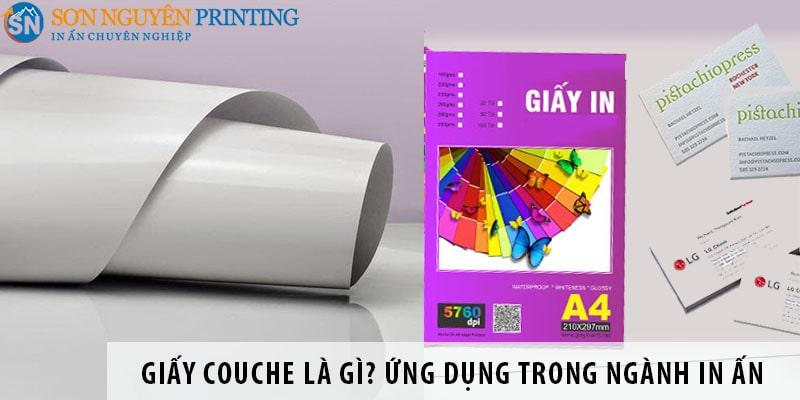 Giấy Couche là gì? Ứng dụng giấy Couche trong ngành in ấn