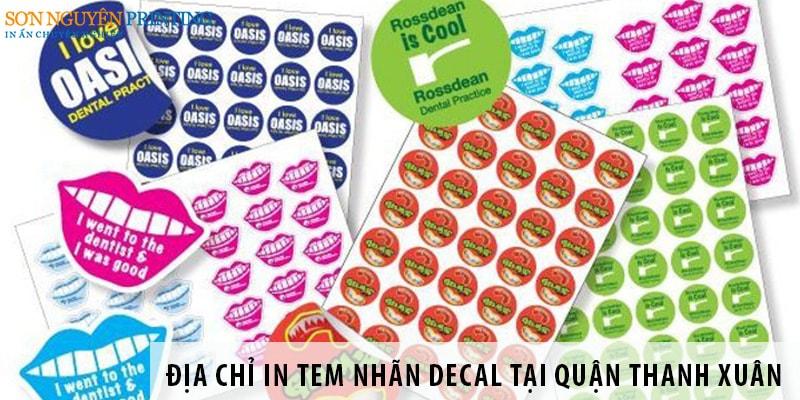 Địa chỉ in tem nhãn decal tại quận Thanh Xuân, Hà Nội