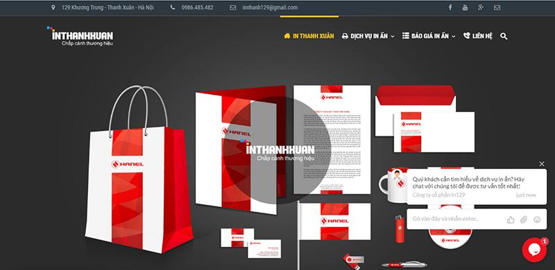 Trang web của In Thanh Xuân