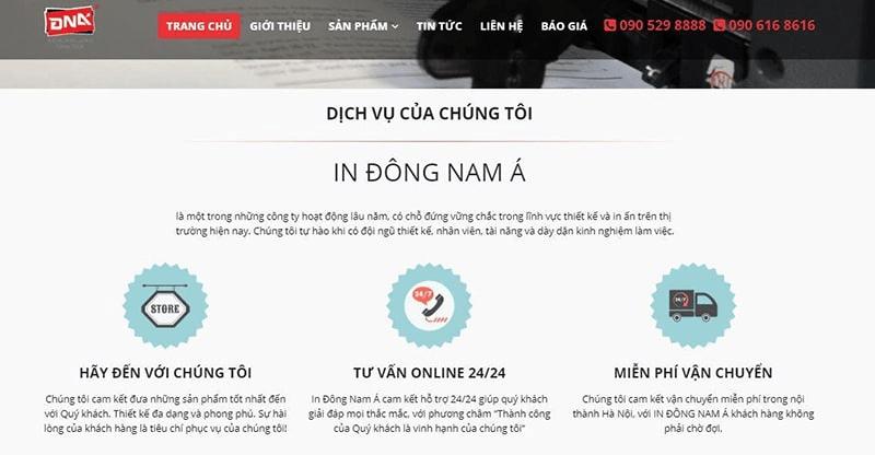 Trang web của in Đông Nam Á