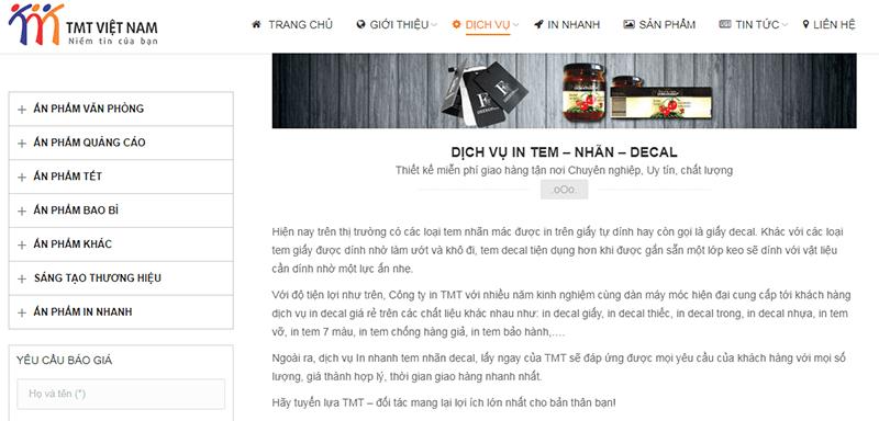 Công ty TNHH Thương mại TMT Việt Nam