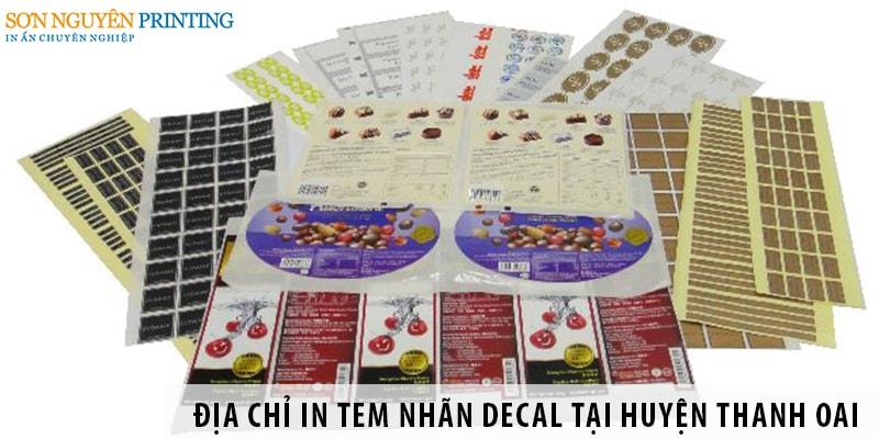 Địa chỉ in tem nhãn decal giá rẻ tại huyện Thanh Oai