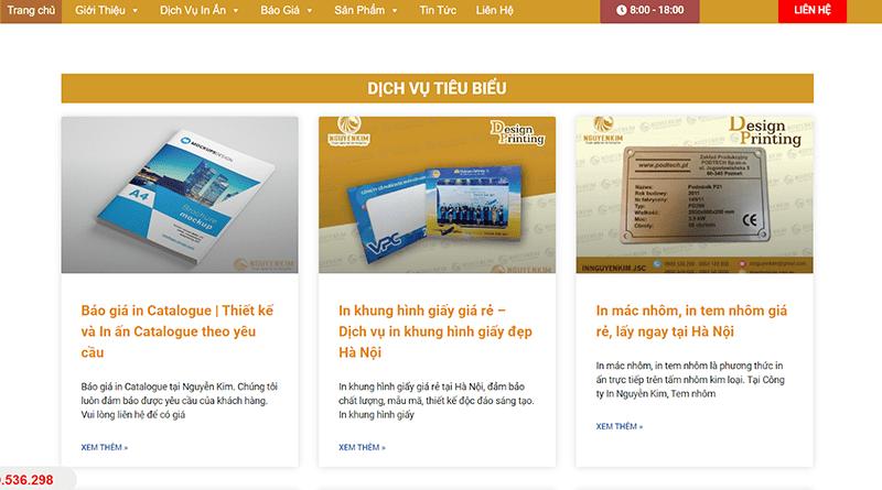 Công ty in ấn Nguyễn Kim