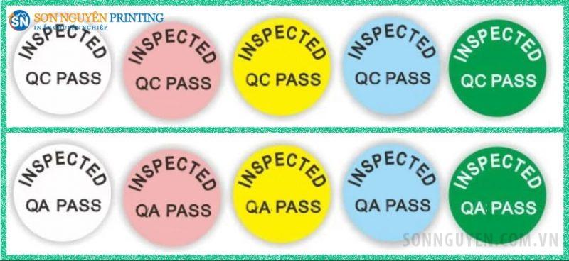Tem QC, QA có nhiều màu sắc khác nhau