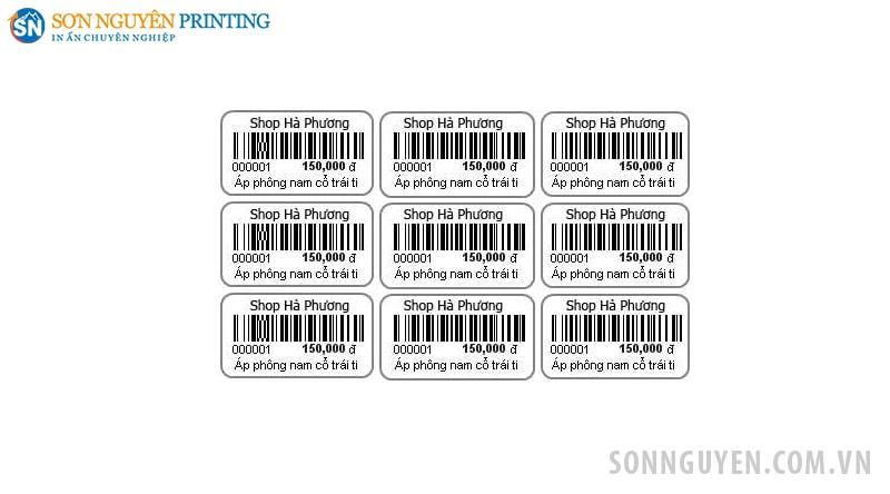 in tem giá sản phẩm giá rẻ
