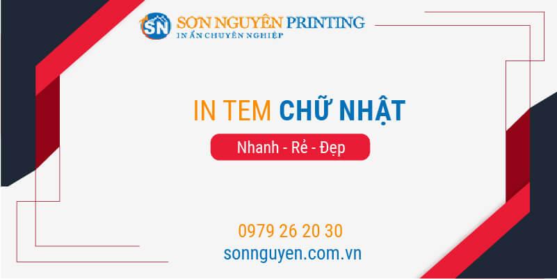 in tem hình chữ nhật tại Sơn Nguyên