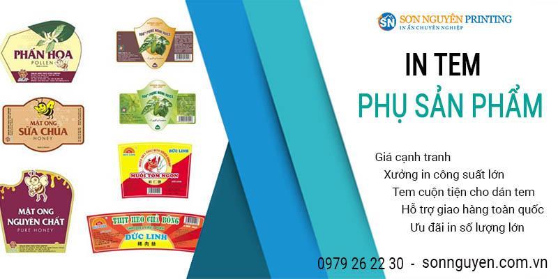 in tem phụ sản phẩm giá rẻ tại Sơn Nguyên