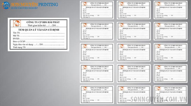 xưởng in tem kiểm kê tài sản