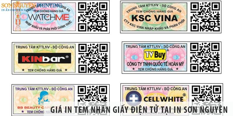 Bất ngờ với giá in tem nhãn giấy điện tử tại In Sơn Nguyên