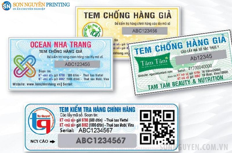 Các loại tem nhãn điện tử giấy thường gặp
