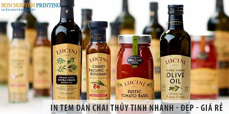 In tem dán chai thủy tinh nhanh - đẹp - giá rẻ tại Sơn Nguyên