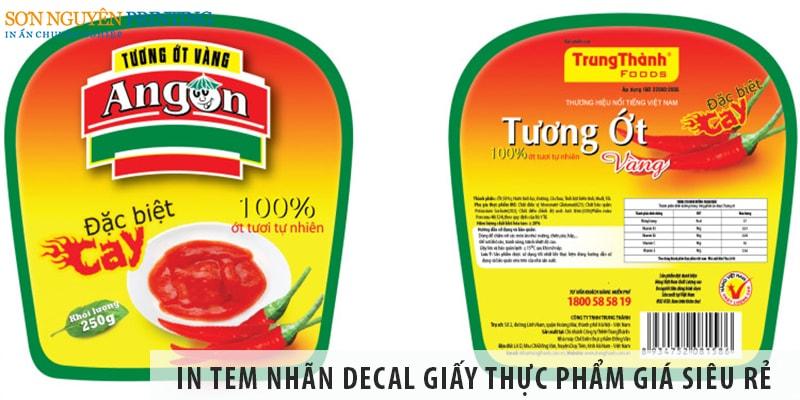 Dịch vụ in tem nhãn decal giấy thực phẩm giá siêu rẻ tại Sơn Nguyên