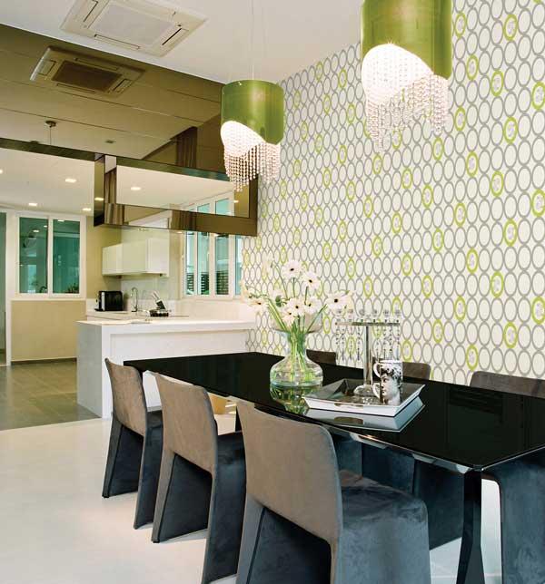 Chọn giấy dán tường thích hợp cho phòng bếp